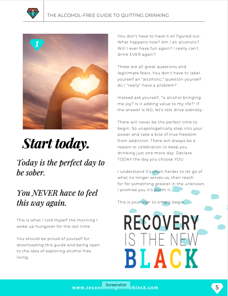 Recovery Is The New Black eguide - internal page